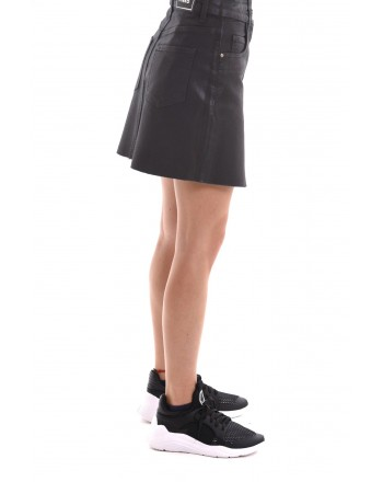 PINKO - DENIM cotton skirt - Black
