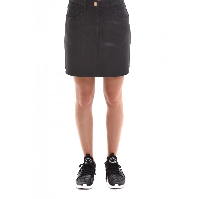 sports shoes 6db7a 13da7 PINKO DENIM cotton skirt Black [Woman] Elsa Boutique