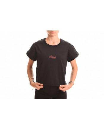 PHILOSOPHY di LORENZO SERAFINI - T-Shirt in Cotone con Logo Corsivo - Nero