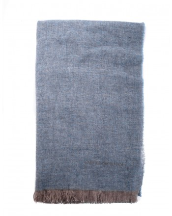 EMPORIO ARMANI - Cashmere scarf - Light Blue