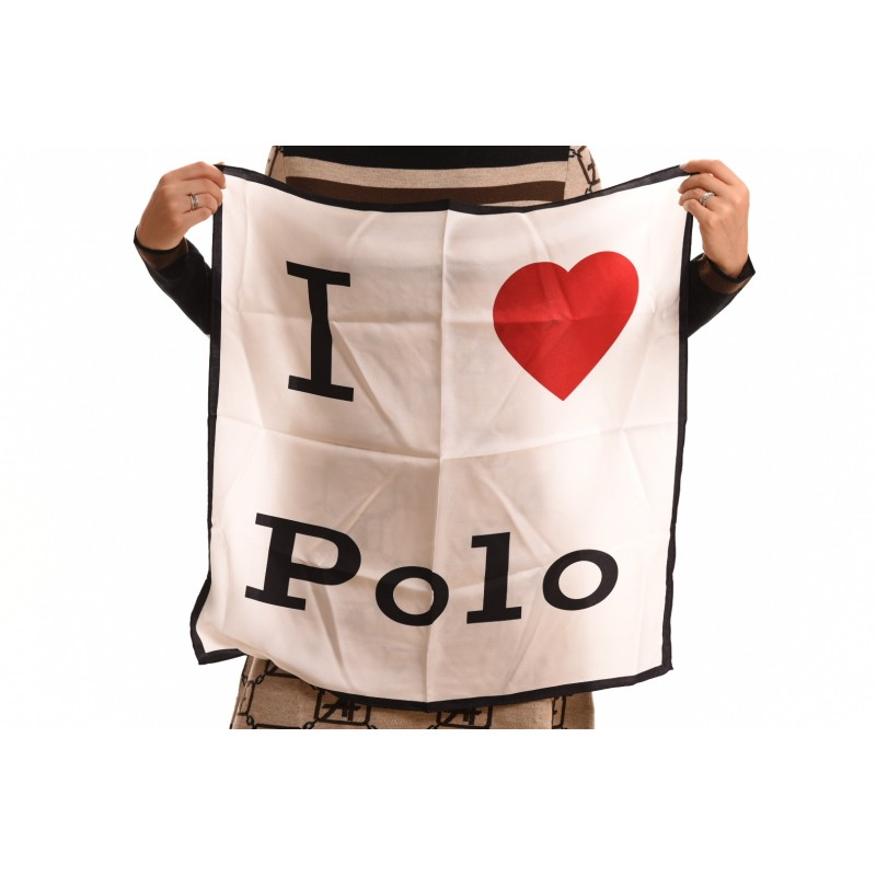 POLO RALPH LAUREN - Foulard LOVE in seta - Bianco