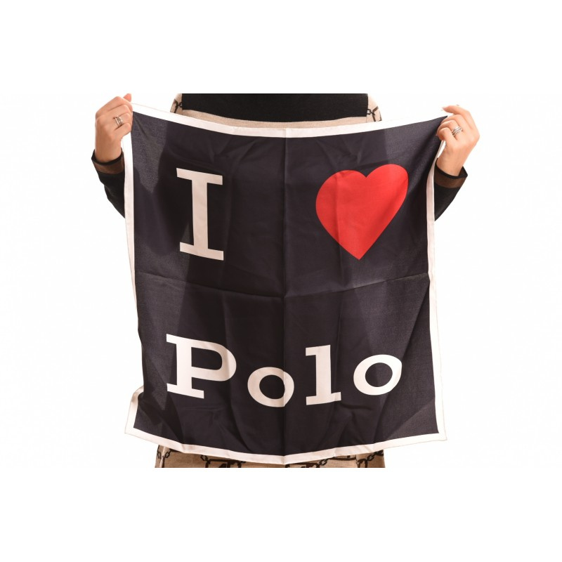 POLO RALPH LAUREN - Foulard LOVE in seta - Nero