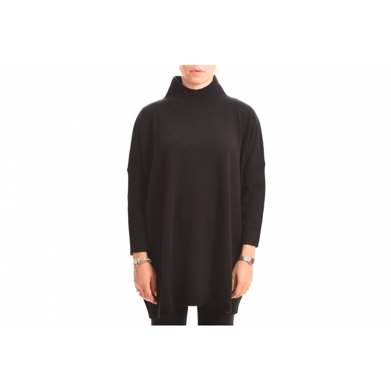 MAX MARA STUDIO - Turtleneck Knit SILVA  - Black