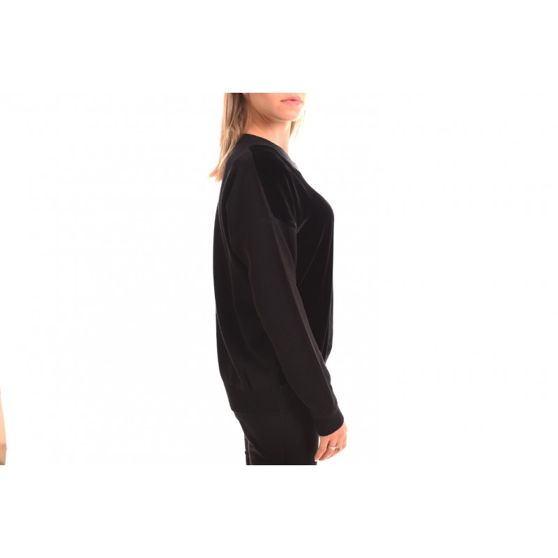 MAX MARA STUDIO - EREMI Velvet Details Knit - Black
