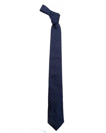 EMPORIO ARMANI - Cravatta in seta - Blu/Rosso/Bianco