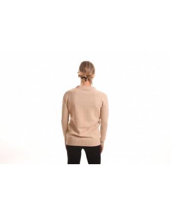 ALBERTA FERRETTI - Ribbed Logo Knit - Beige