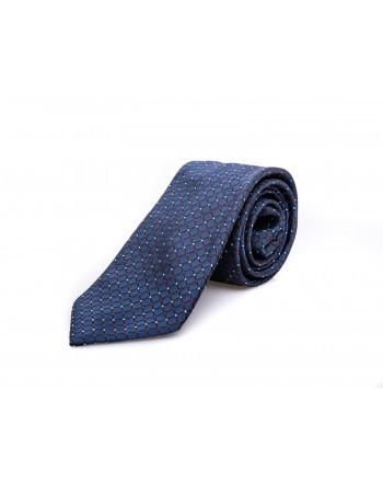 EMPORIO ARMANI - Silk tie - Blu/eRed/White