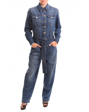 PINKO - Tuta in Denim PAX - Denim