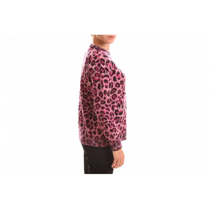 ALBERTA FERRETTI - SAVE ME Animalier Knit - Pink