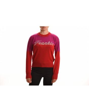 FRANKIE MORELLO - Rhinestone Logo Knit - Rose Violet