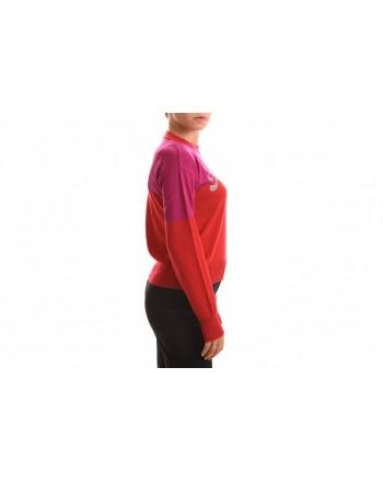 FRANKIE MORELLO - Maglia con Logo Strass - Rose Violet