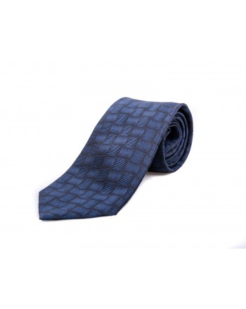 EMPORIO ARMANI - Cravatta in seta - Blu/Nero