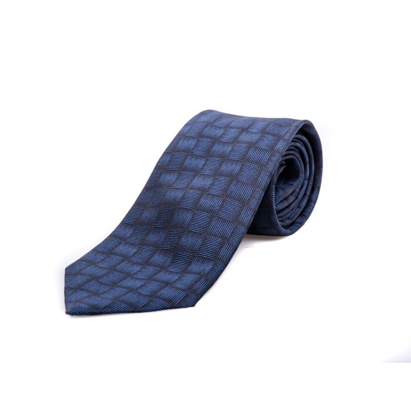 EMPORIO ARMANI - Silk tie - Blue/Black