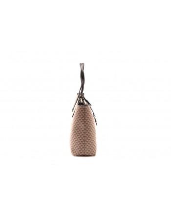 EMPORIO ARMANI - Shopping bag in leather Black