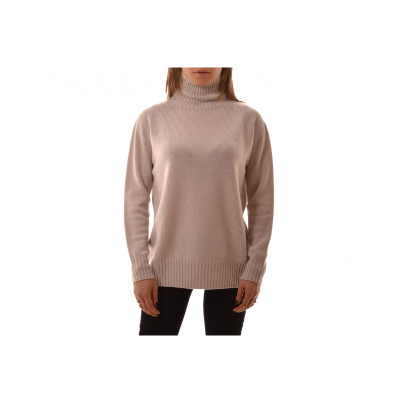 S MAX MARA - GNOMO  Cashmere Turtleneck Knit - Light Grey