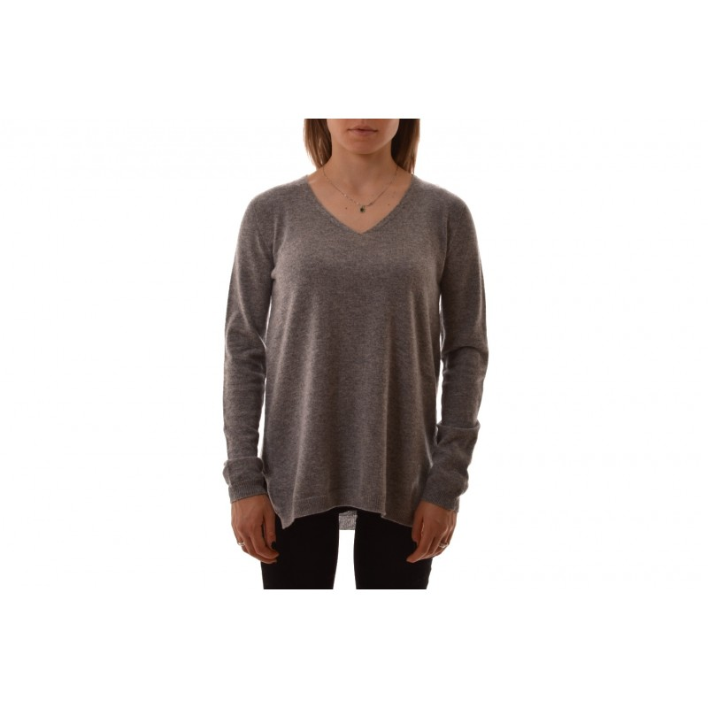 S MAX MARA - GEBE Cashmere  Knit - Light Grey