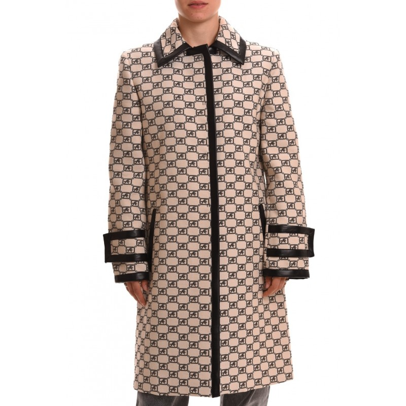 ALBERTA FERRETTI - Monogram Cotton Jacket - Ivory