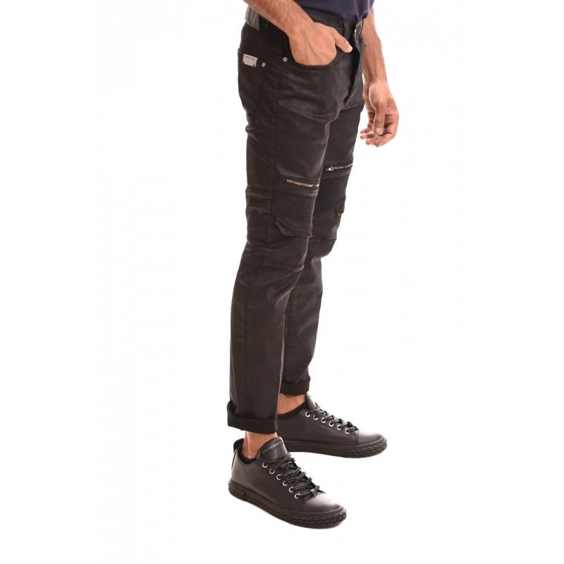 FRANKIE MORELLO - Jeans DA VINCI MOTOR - Nero