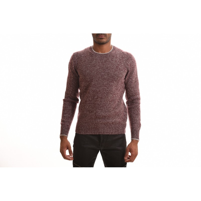 FAY - Roundneck wool sweater - Bordeaux