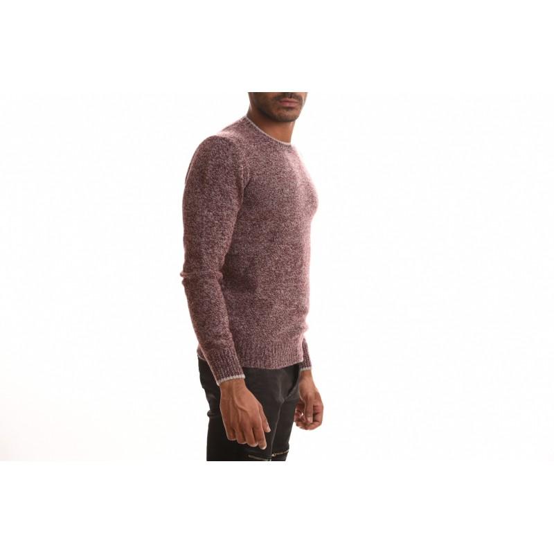 FAY - Maglia Girocollo in lana - Bordeaux