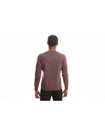 FAY - Roundneck wool sweater - Bordeaux