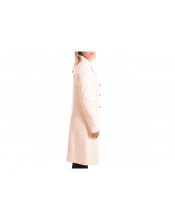 PINKO - EMOZIONI Wool and Cashmere Coat - White