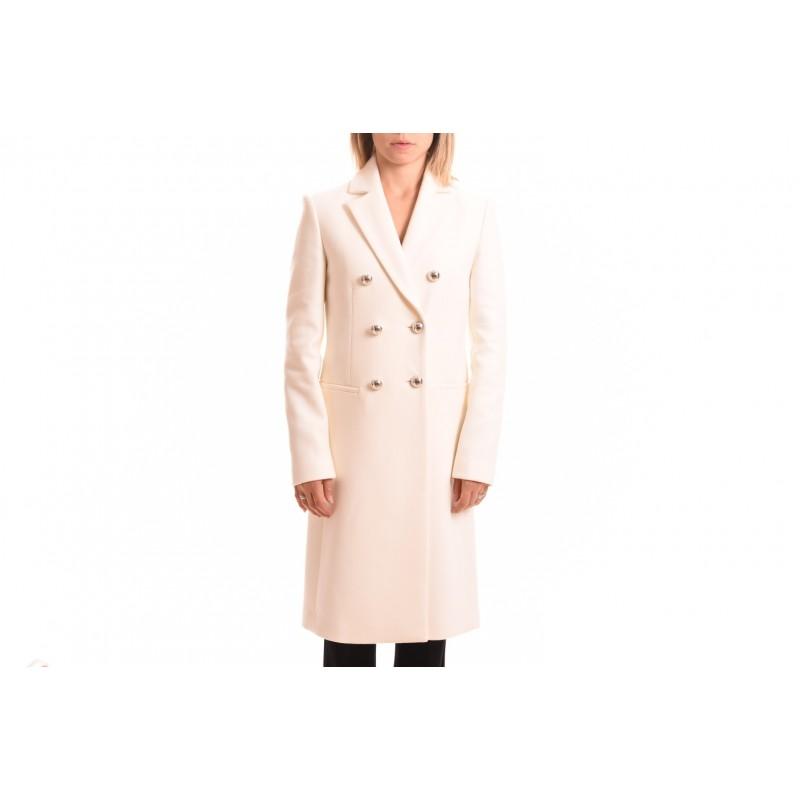 purchase cheap 60d5a 0b10a PINKO Cappotto Lana e Cashmere EMOZIONI Bianco [Donna] Elsa Boutique