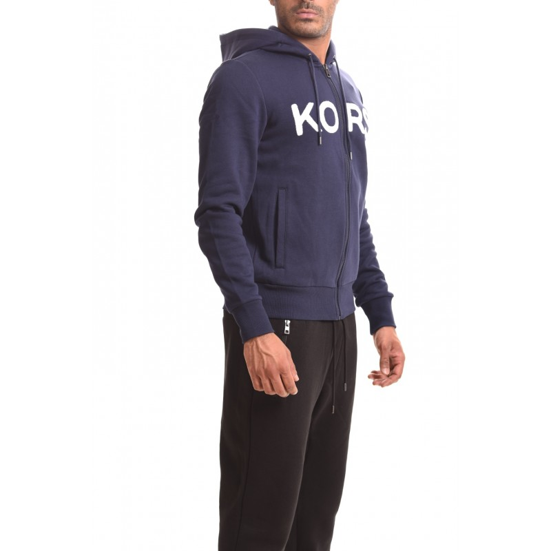 MICHAEL BY MICHAEL KORS - Hooded cotton swetshirt - Dark blue