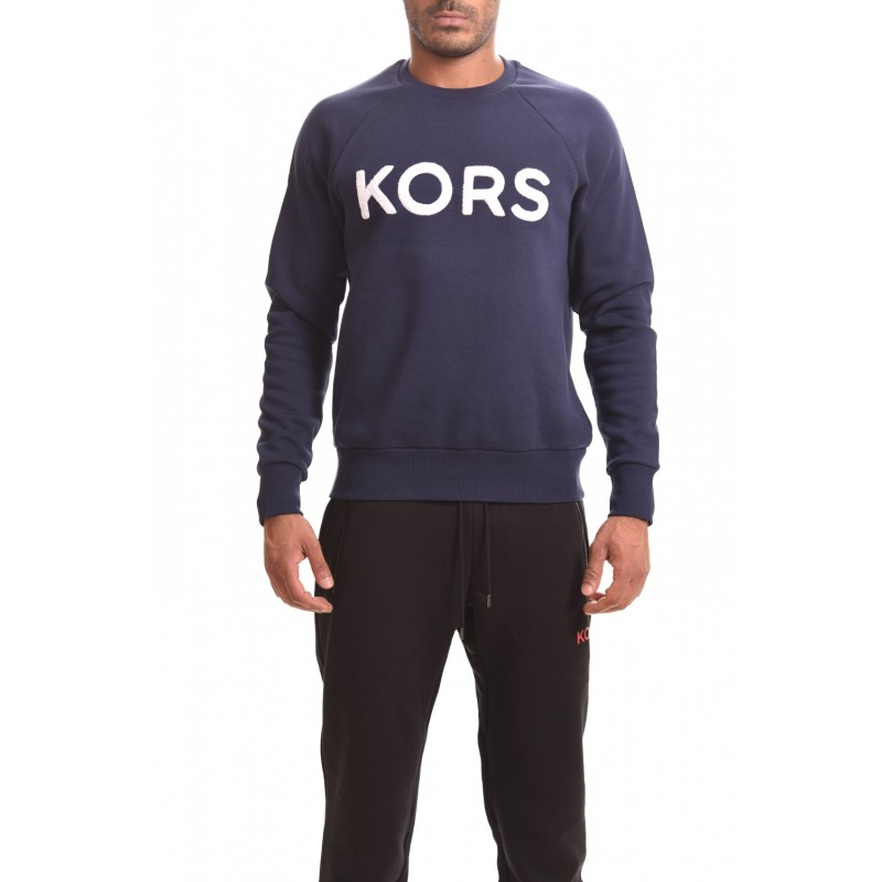 MICHAEL BY MICHAEL KORS - Cotton Swearshirt with LOGO - Dark blue