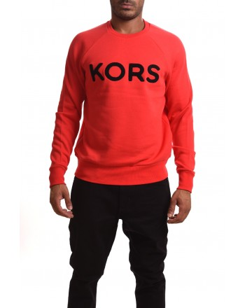 MICHAEL BY MICHAEL KORS - Cotton Swearshirt with LOGO - Pop red