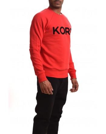 MICHAEL BY MICHAEL KORS - Felpa in cotone con scritta KORS - Pop red