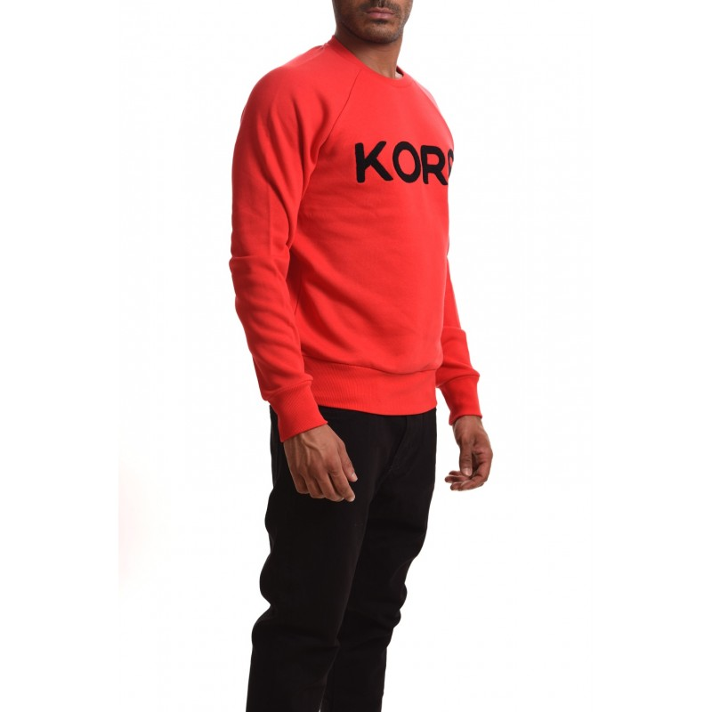 MICHAEL BY MICHAEL KORS - Felpa in cotone con scritta KORS - Pop red