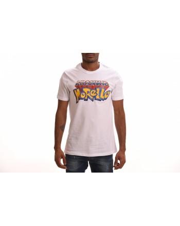 FRANKIE MORELLO - Cotton T-Shirt with Pokemon Logo - White