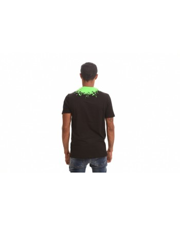 FRANKIE MORELLO - Cotton T-Shirt with Roundneck Print - Black