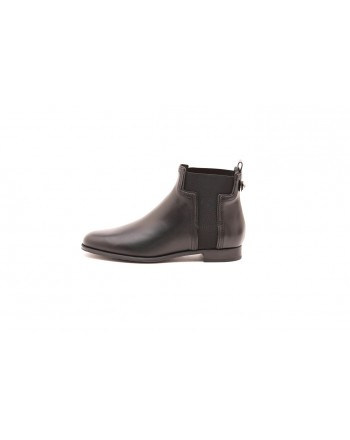 TOD'S - Leather ankle boot - Black