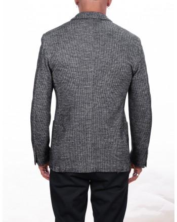 FAY - Jersey two button jacket - White/Black