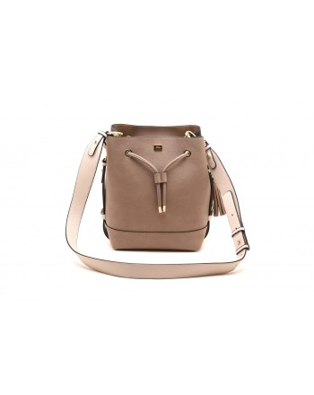 LES COPAINS BLUE - Leather bucket bag - Light brown