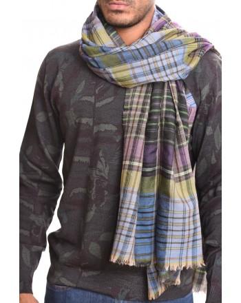 ETRO - Sciarpa in seta e cashmere - Azzurro