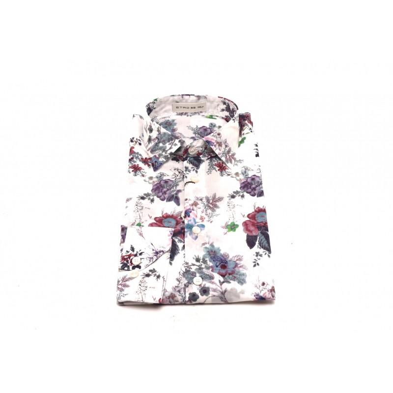 ETRO - Cotton shirt with floral print - Multicolour