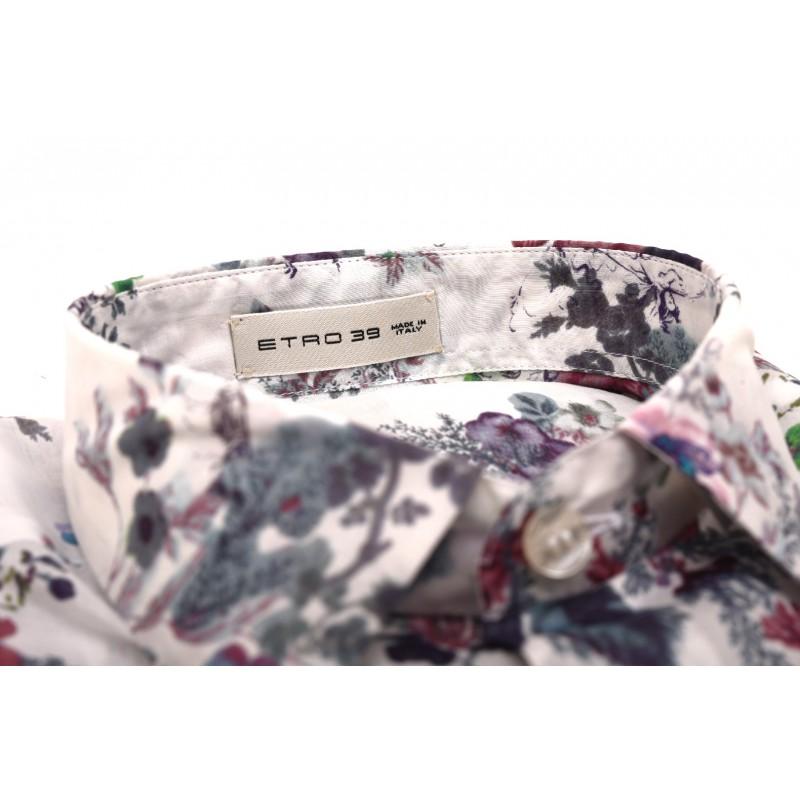ETRO - Camicia in cotone con stampa floreale - Fantasia