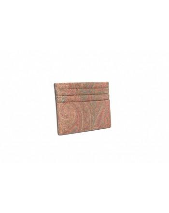 ETRO - Portacarte in pelle stampa Paisley - Fantasia