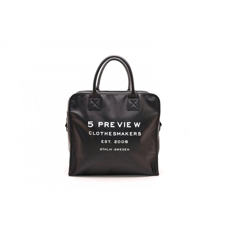 5 PREVIEW - Borsa PVC 5 - Nero