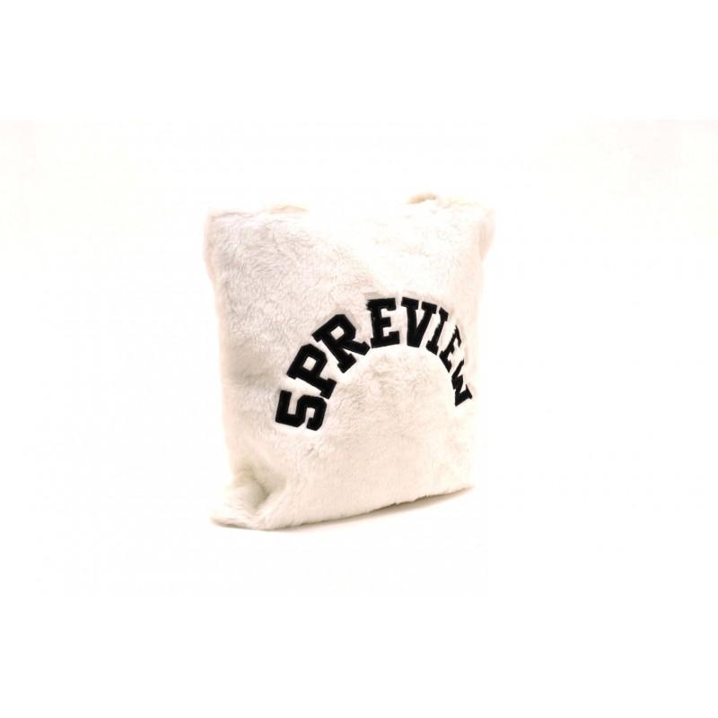 5 PREVIEW - Borsa in Ecopelliccia - Bianco