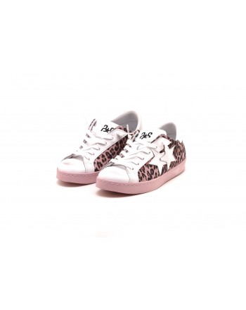 2 STAR - Sneakers in pelle Maculata - Maculato/Rosa
