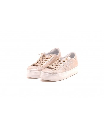 2 STAR - Leather sneakers - Bronz
