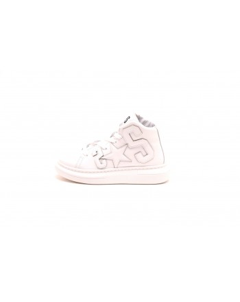 2 STAR - Leather Sneakers - Bianco