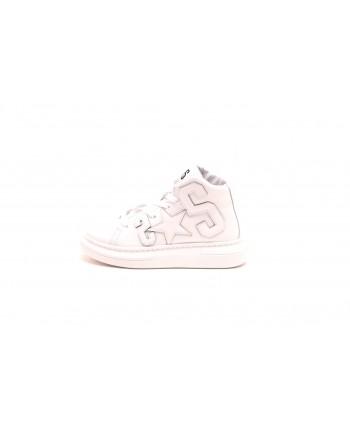 2 STAR - Sneakers Alta in pelle - Bianco