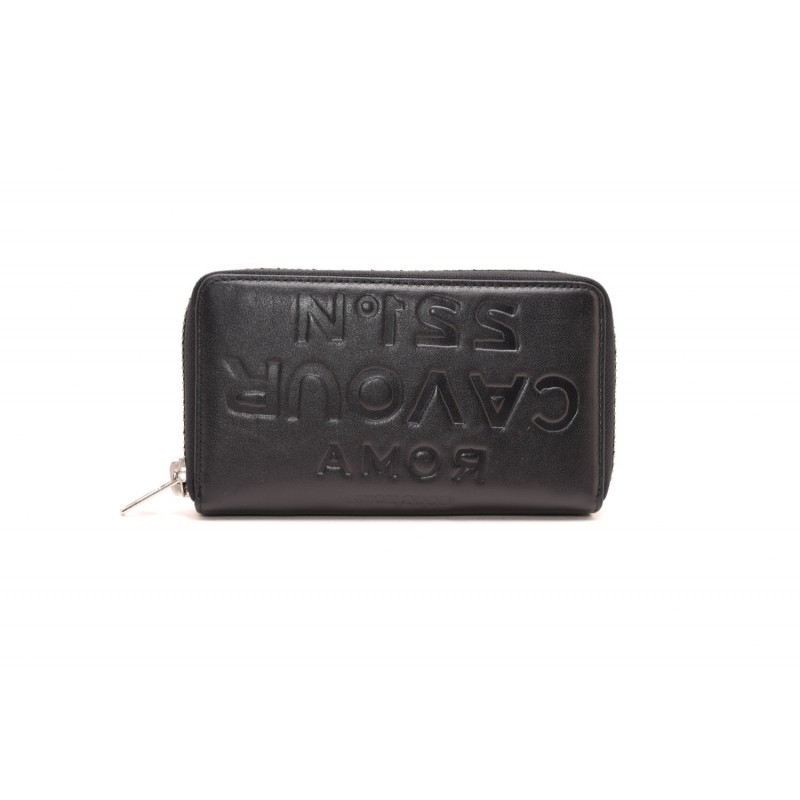 5 PREVIEW - Leather wallet with zip around - Black