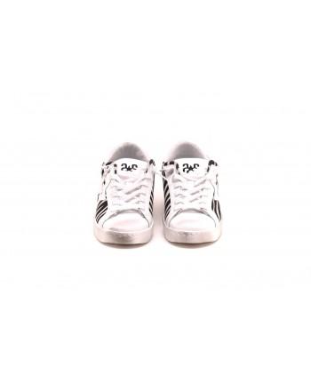 2 STAR - Sneakers ANIMAL in pelle - Zebrata