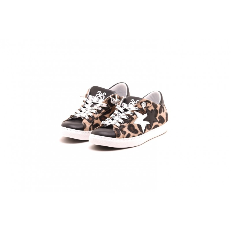 2 STAR - Sneakers LOW MACULATO in pelle - Maculato